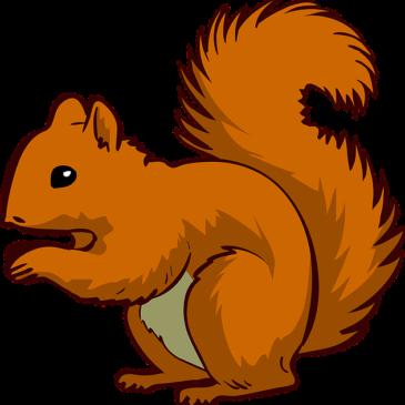 """Praca plastyczna pt.  """"Wiewiórki"""""""