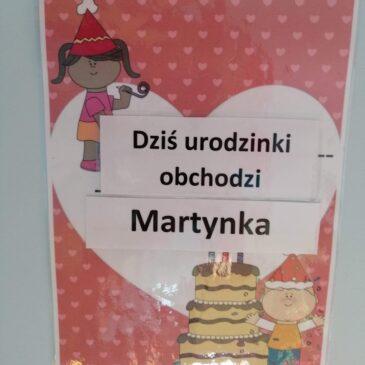 Urodzinki Martynki :)